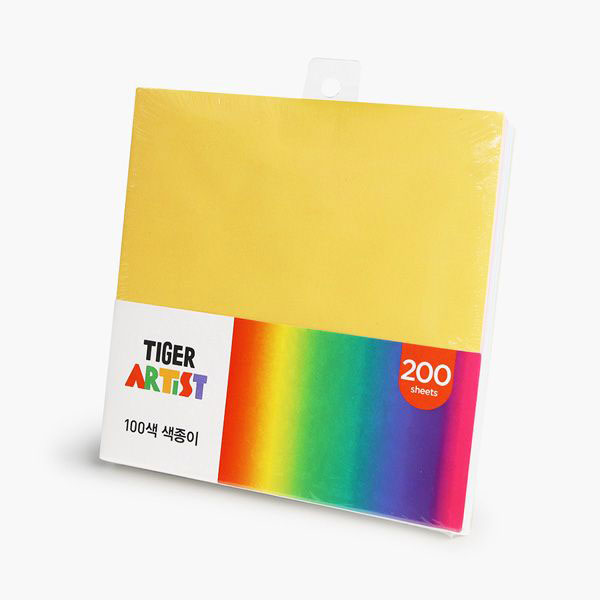 타이거 100색 색종이