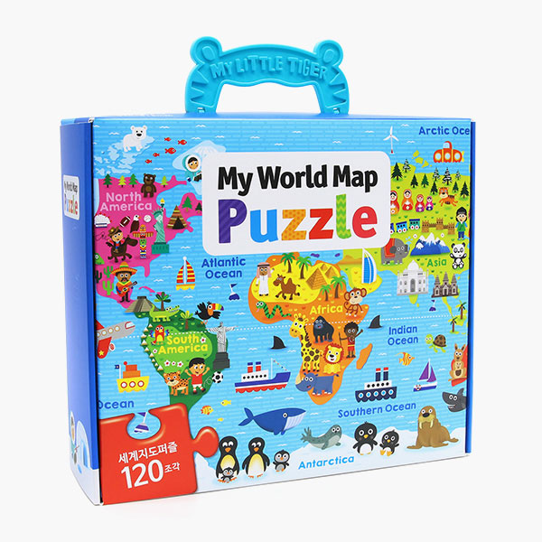 [My World Map Puzzle]세계지도 퍼즐박스