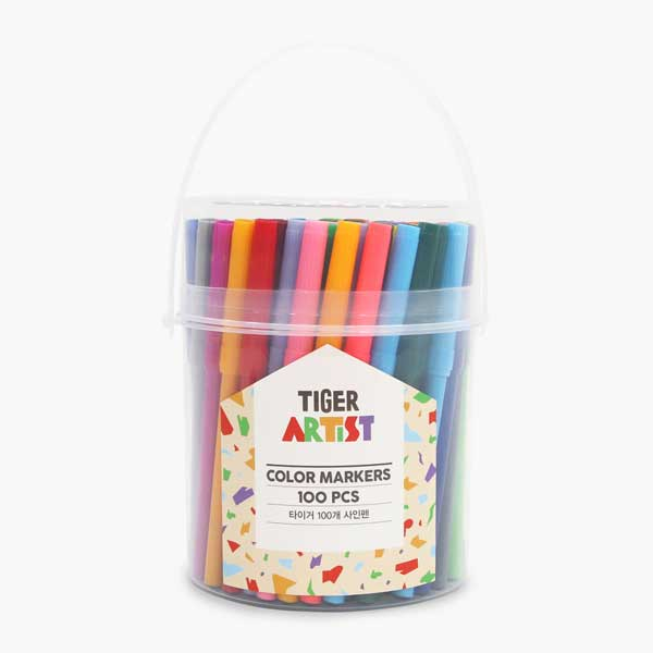 타이거 100개 사인펜