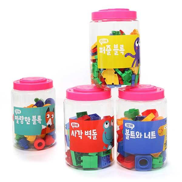 타이거 블록4종(원통형)/구매시 본품 하나 더!