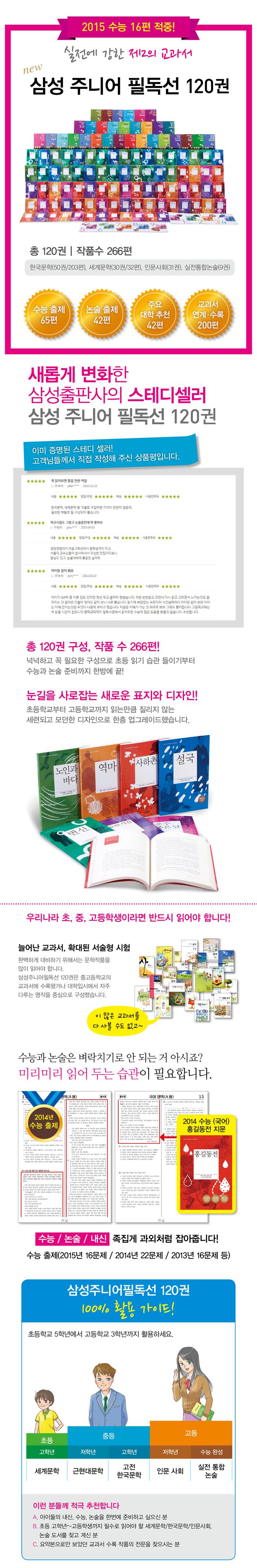 삼성출판사 삼성 주니어 필독선 120권