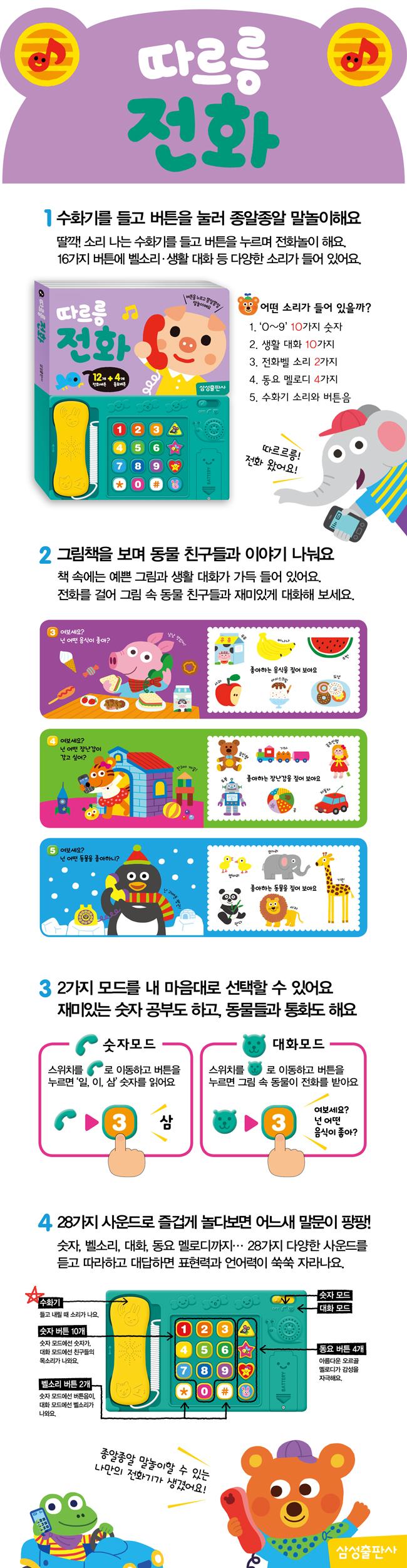 삼성출판사 NEW 노래로 사운드북 외 19종 (한글/영어/피아노 외)