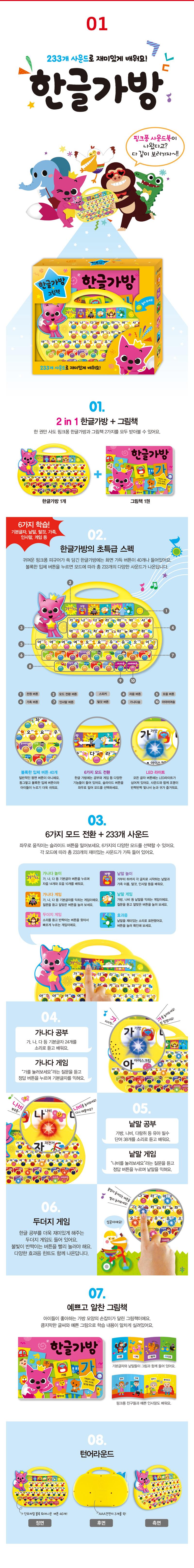 삼성출판사 핑크퐁 사운드북 4종 (한글가방/스마트폰/워치/패드)